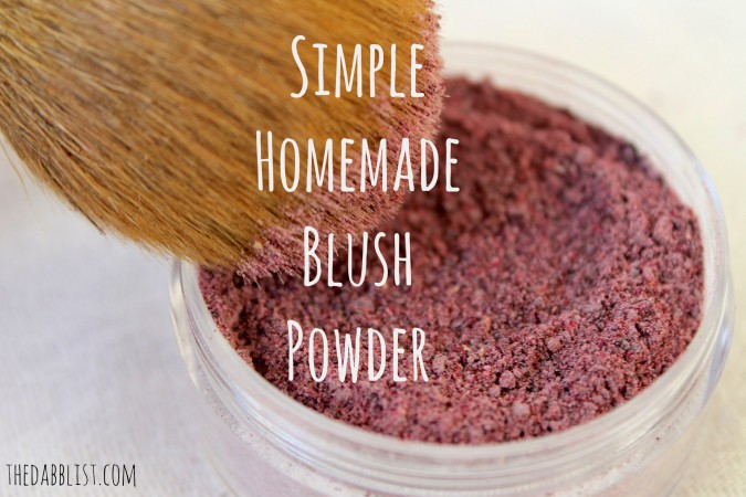 Simple Homemade Blush Powder
