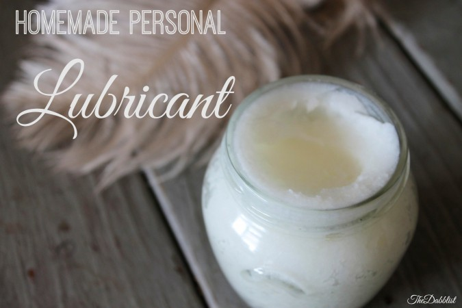 Homemade Personal Lubrication