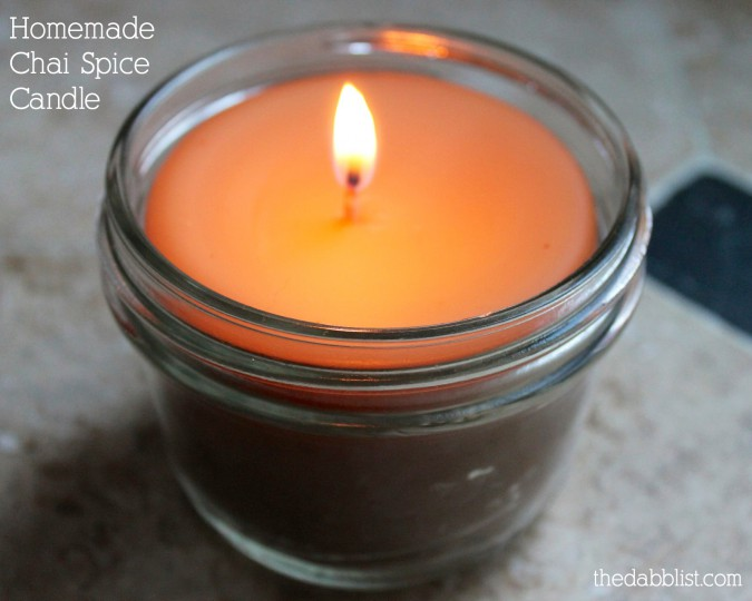 Homemade Chai Spice Candle