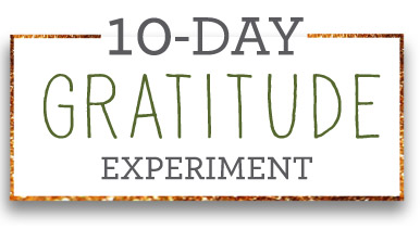 Join the 10 Day Gratitude Experiment
