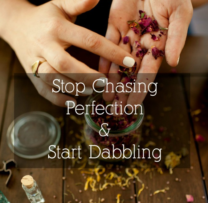 stop chasing perfection