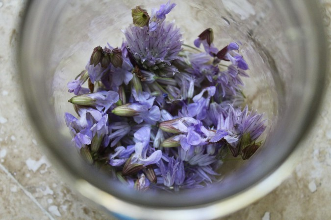 Sage & Chive Blossom Infused Vinegar