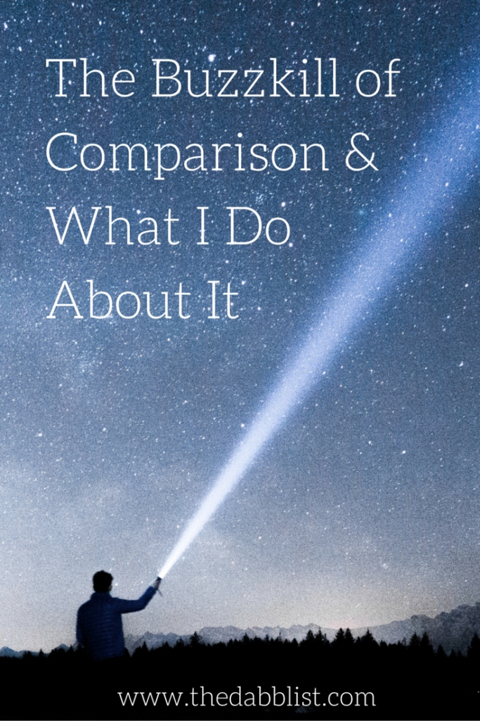 The Buzzkill of Comparison & What I do About it