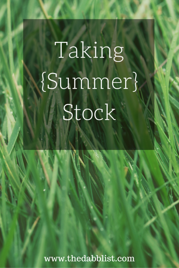 Taking {Summer} Stock