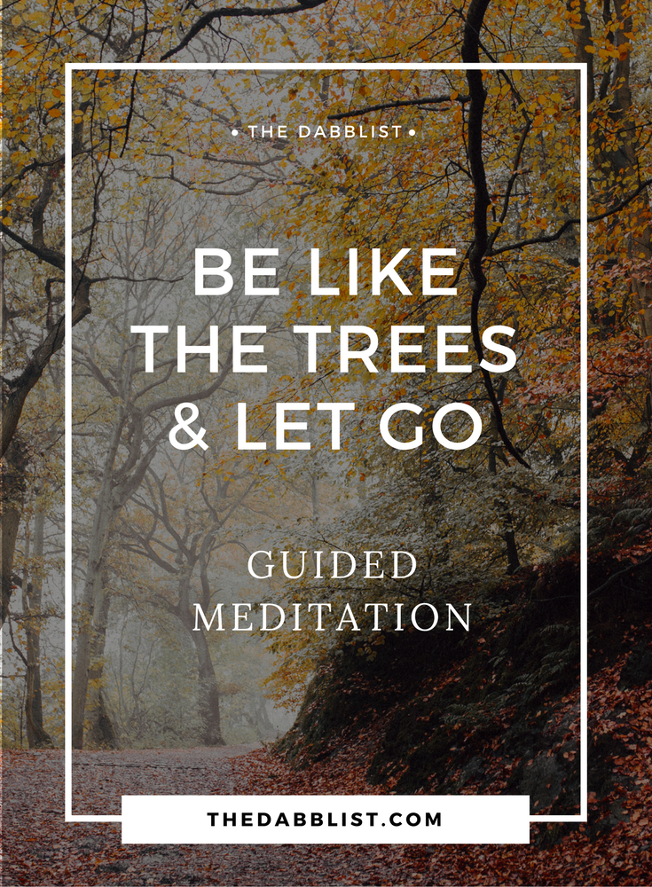 Click through to this guided meditation that takes you through a forest and shows you how to let go like the autumn leaves.