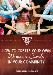Create your own women's circle