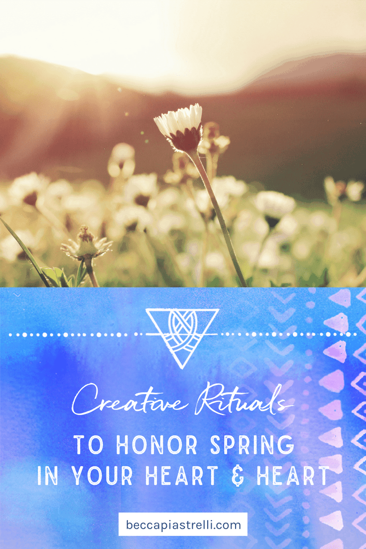 Read more about creative rituals you can do to welcome spring in your home and your heart, including a magical floor wash I'm currently obsessed with!