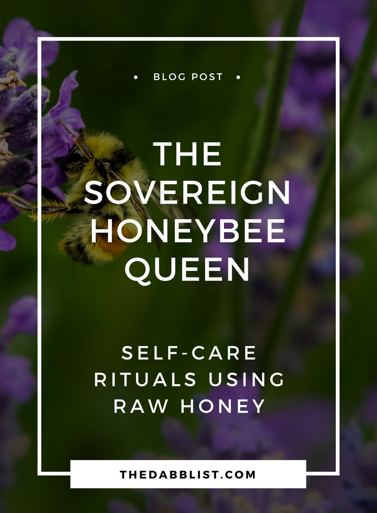 The sacred honeybee. Learn more about ancient bee priestesses and self-care rituals using raw honey.