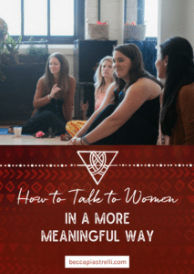 Over the years, women have come to me wanting to know how they can cultivate more meaningful relationships with other women. I'm discovering how to have more meaningful conversations with women. Check out the blog for more!